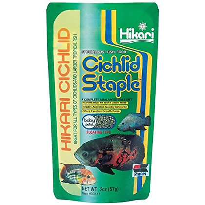 Hikari Cichlid Staple Floating Baby Pellets for Pets, 2-Ounce