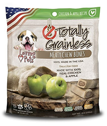 Loving Pets Totally Grainless Chicken And Apple Recipe Meaty Chew Bones For Medi