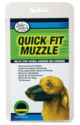 Four Paws Quick Fit Adjustable Dog Muzzle, Black, Size 0