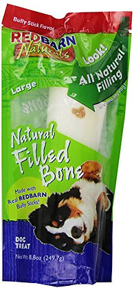 Redbarn Natural Bully Filled Bone Large for Dogs (1-Count)