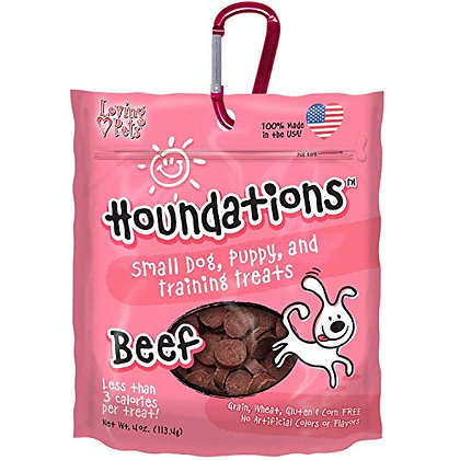Loving Pets Houndations Beef Training Treats Dog Treat, 4 Oz/One Size