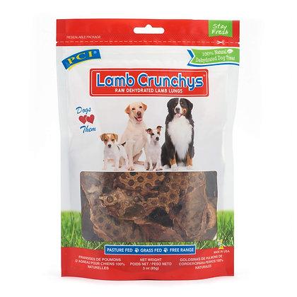 Pet Center, Inc. PCI Lamb Crunchys Raw Dehydrated Lamb Lungs Dog Treats, 3 Ounce