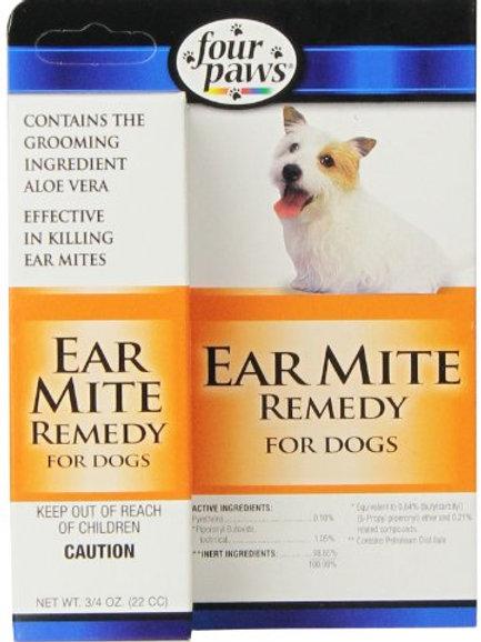 Four Paws Dog Ear Mite Remedy, 0.75oz