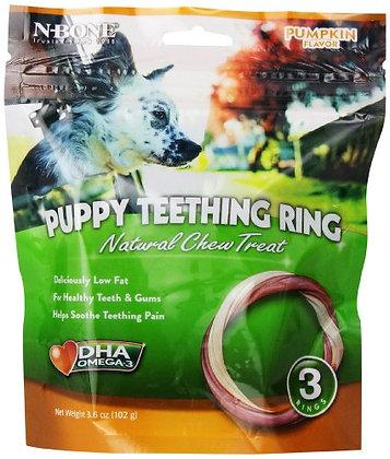 N-Bone 3-Pack Puppy Teething Ring, Pumpkin Flavor