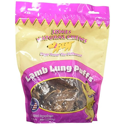 Jones Gourmet Dog Chews 780 Lamb Puffs 8 oz.
