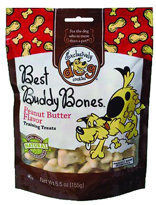 Exclusively Dog Pet Best Buddy Bones-Peanut Butter Flavor, 5-1/2-Ounce Package,