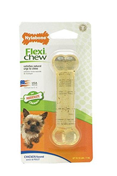 Nylabone Flexichew Petit Chicken Flavored Bone Dog Chew Toy