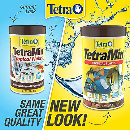 Tetra 77101 TetraMin Tropical Flakes, 0.42-Ounce, 85 ml