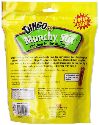 Dingo Munchy Stix, Made With Real Chicken, 50-Count, Red (P-22042)