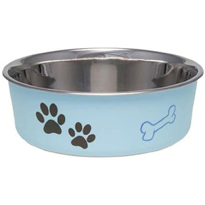 Loving Pets 7411 Bella Bowl for Dogs, Extra Large, Murano Blue