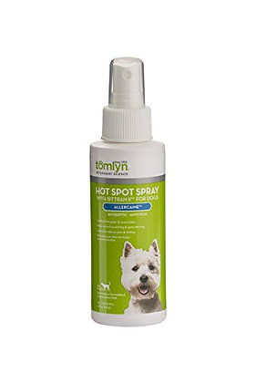 Tomlyn Hot Spot Spray with Bittran II for Dogs, (Allercaine) 4 oz