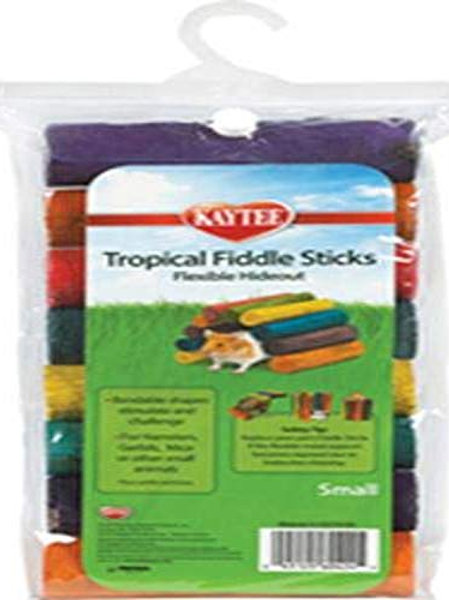 Superpet (Pets International) Kaytee Tropical Fiddle Sticks Hideout Multiple Col
