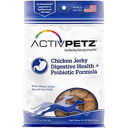 Loving Pets Activpetz Chicken Jerky Digestive Health + Probiotic Formula Dog Tre