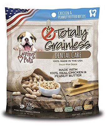 Loving Pets Totally Grainless Chicken & Peanut Butter Recipe Dental Care Toy For