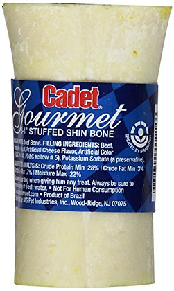 Ims Trading Cadet Shrink Wrapped Sterilized Cheese Stuffed Bone For Dogs, 3-4""