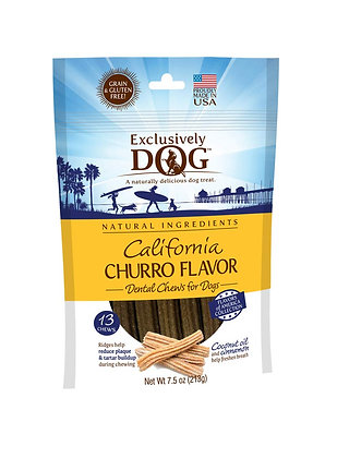 Exclusively Pet Exclusively Dog California Churro Flavor Dental Chew 7.5 oz