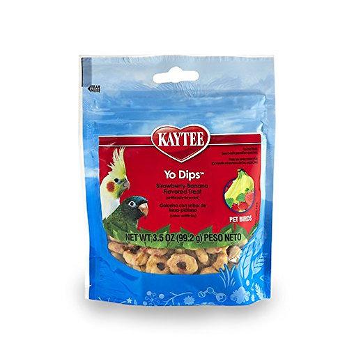 Kaytee Strawberr/Banana Flavor Yogurt Dipped Treat For All Pet Birds, 3.5 Oz.