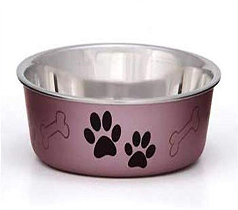 Loving Pets Metallic Bella Bowl, Large, Grape
