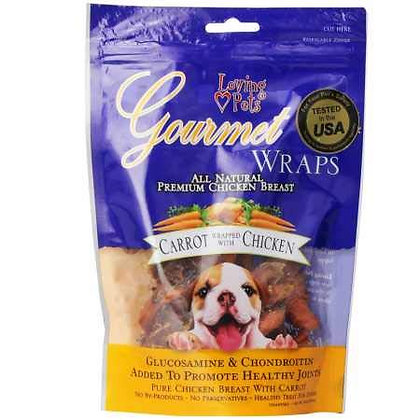 Loving Pets All Natural Premium Carrot and Chicken Wraps with Glucosamine and Ch