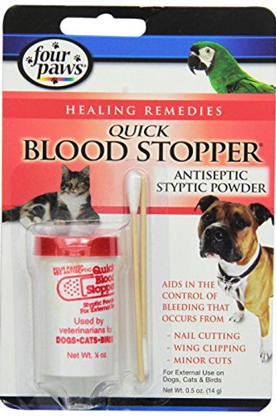 Four Paws Blood Stopper Powder,  0.5 oz