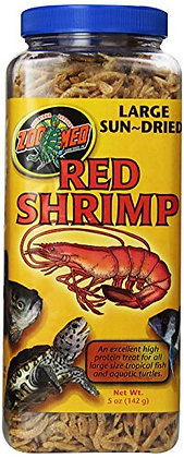 Zoo Med Sun Dried Large Red Shrimp, 5-Ounce