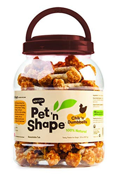 Pet 'n Shape Chik 'N Rice Dumbbells - All Natural Dog Treats, Chicken, 2 Lb
