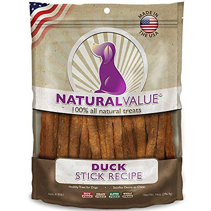 Loving Pets Natural Value All Natural Soft Chew Duck Sticks For Dogs, 14-Ounce