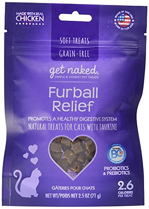 Get Naked 1 Pouch Furball Relief Soft Treats For Cats, 2.5 Oz