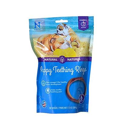 N-Bone Puppy Teething Ring Pumpkin Flavor 7.2 Oz/(6 Count)