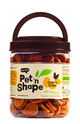 Pet 'n Shape Chik 'n Chips - All Natural Dog Treats, 1 Lb