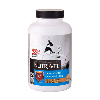 Nutri-Vet Multi-Vite Chewables for Senior Dogs | Formulated with Viatimins & Min