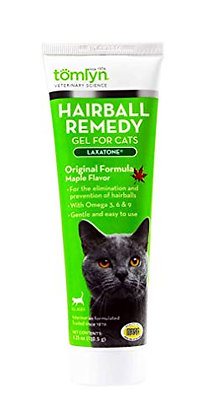 Tomlyn Laxatone Maple-Flavored Hairball Remedy Gel for Cats and Kittens, 4.25oz