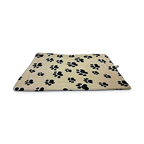 Sleep Zone Fleece Thermo Kennel And Crate Mat - Non Woven Bottom - 18X14 Inches