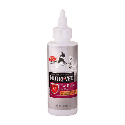 Nutri-Vet Eye Rinse Liquid for Dogs | Gentle Formulat Removes Debris | Helps Red