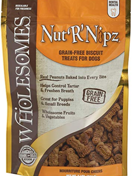 Wholesomes Nut'R'Nipz Dry Dog Biscuits, 2 lbs. (1710406E)