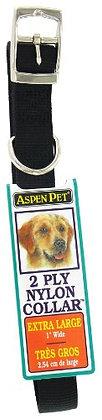 "Aspen Pet 21450 28"" x 1"" Look Dog Collars, Black"