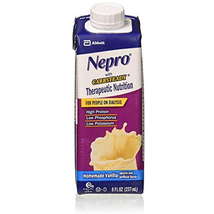 Abbott Nutrition Nepro With Carb Steady, Homemade Vanilla, 8 Ounce Institutional