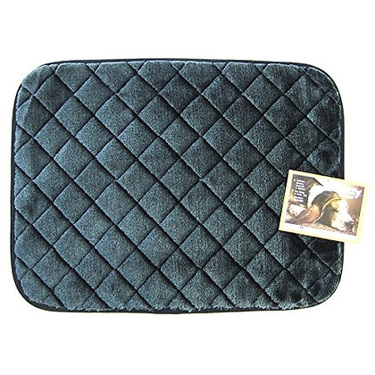 SNOOZZY BLACK 23X16 QUILTED MAT