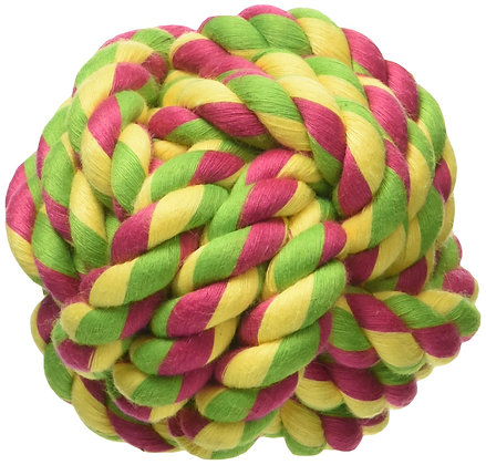 Mammoth Flossy Chews Monkey Fist Ball  Premium Cotton-poly Toy for Dogs  Interac