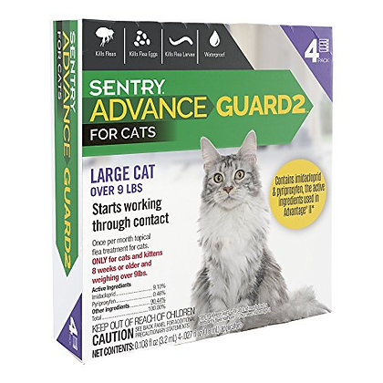 Sentry Advance Guard2 for Cats Over 9 lbs, 4 Month Supply