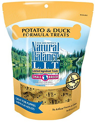 Natural Balance L.I.D. Limited Ingredient Diets Small Breed Dog Treats, Potato &