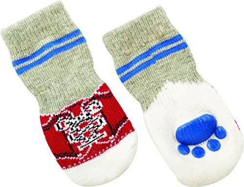 Fashion Pet Embroidery Christmas Women Custom Gray New Medium Socks