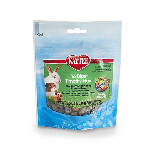 Kaytee Fiesta Blueberry and Strawberry Flavor Yogurt Dipped Timothy Hay for Smal