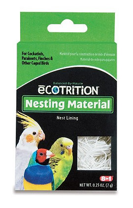 8 in 1 Ecotrition Nesting Material for Cockatiels Parakeets Finches 0.25 Oz