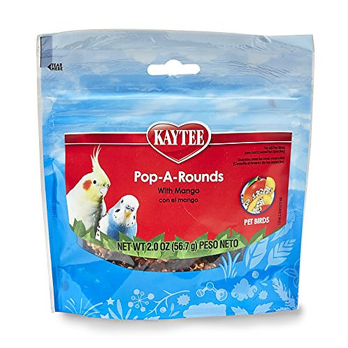 Kaytee Fiesta Pop-A-Rounds, Mango, 2-Ounce