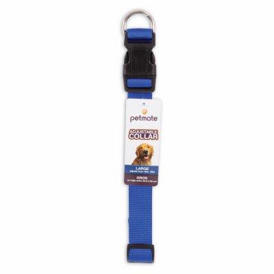 "Petmate 20808 16"" To 26"" Blue Nylon Adjustable Dog Collars"