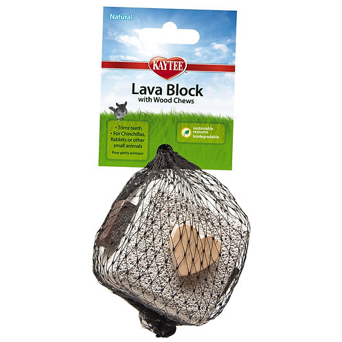 Kaytee Lava Block Chew Toy,2.5 Inches x 2.5 Inches x 5 Inches
