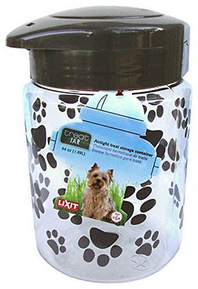 Lixit Treat Jars for Dogs (64oz, Grey)