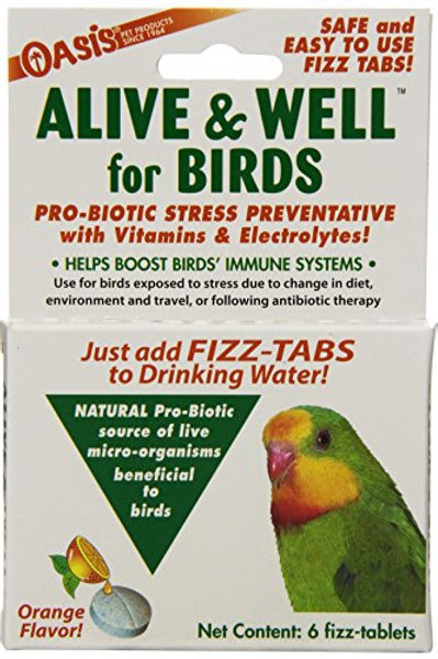 OASIS  #80070  Alive and Well, Stress Preventative & Pro-Biotic Tablets for Bird