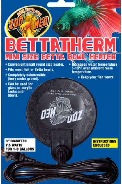 Zoo Med BettaTherm Submersible Betta Bowl Heater 7.5 Watts